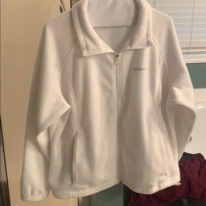 Ivory Columbia fleece jacket